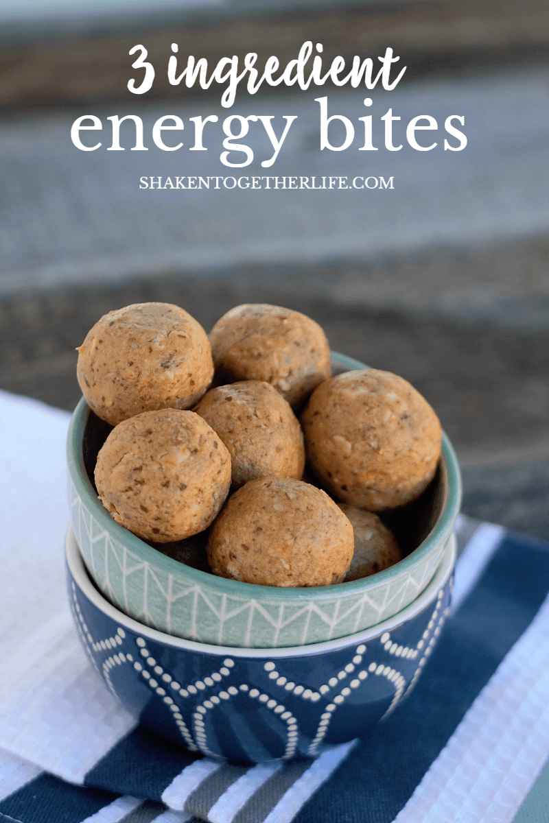 Our 3 Ingredient Energy Bites are packed with protein and healthy carbs and you can customize the recipe with add ins or your favorite nut butter!