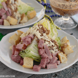 Muffaletta Wedge Salad & 40+ Mardi Gras Recipes! #SundaySupper