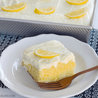 Triple Lemon Poke Cake & 40+ Citrus Recipes #SundaySupper