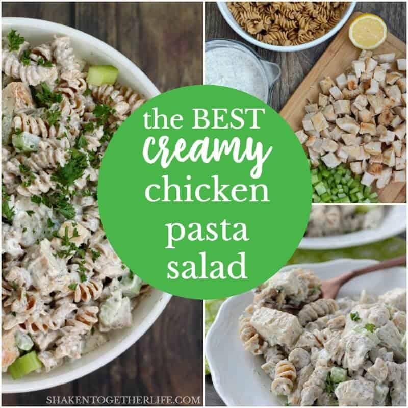 With simple ingredients and a flavorful, make ahead dressing, this is the BEST Creamy Chicken Pasta Salad for lunch, brunch, a picnic or a potluck!