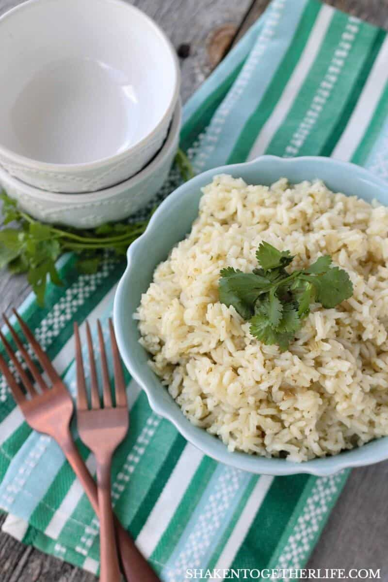 Simple Butter Cilantro Rice is an easy side dish that packs a ton of flavor with almost zero effort!