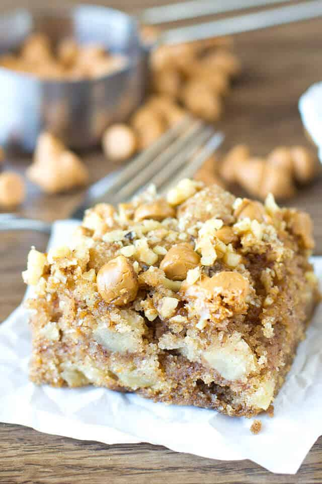 Apple Butterscotch Snack Cake - Tasty of Lizzy T