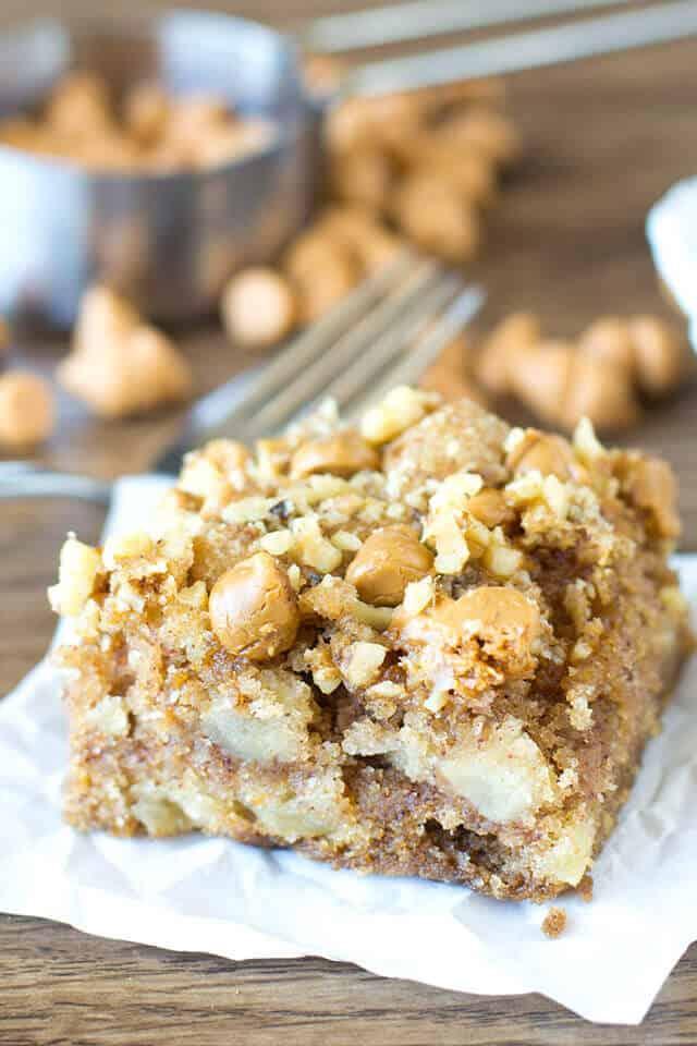 Apple Butterscotch Snack Cake - Tasty of Lizzy T