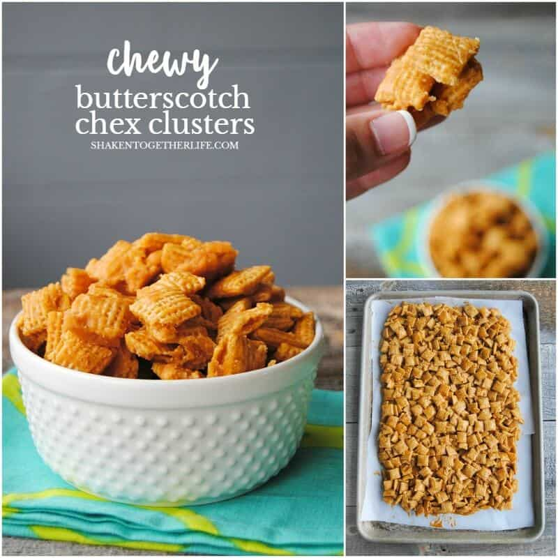 Chewy Butterscotch Chex Clusters are an easy no bake treat with BIG butterscotch flavor!
