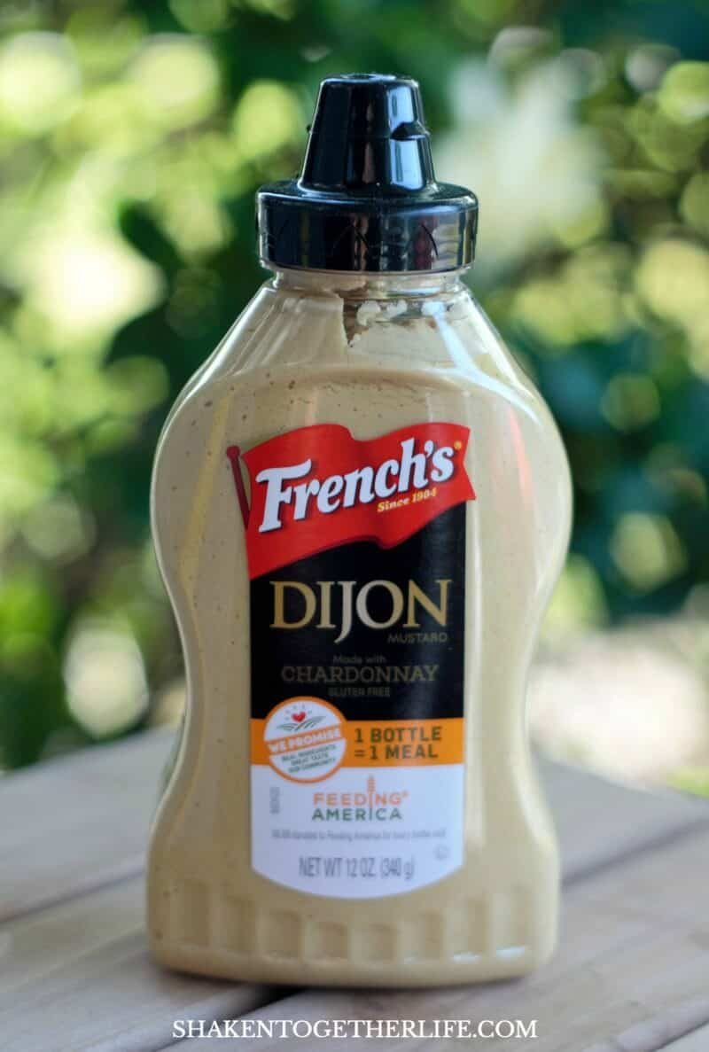 Roasted Vegetables with Garlic Dijon Sauce get a flavorful boost from French's Dijon Mustard!