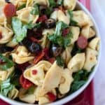 Tuscan Pasta Salad with olives sun dried tomatoes