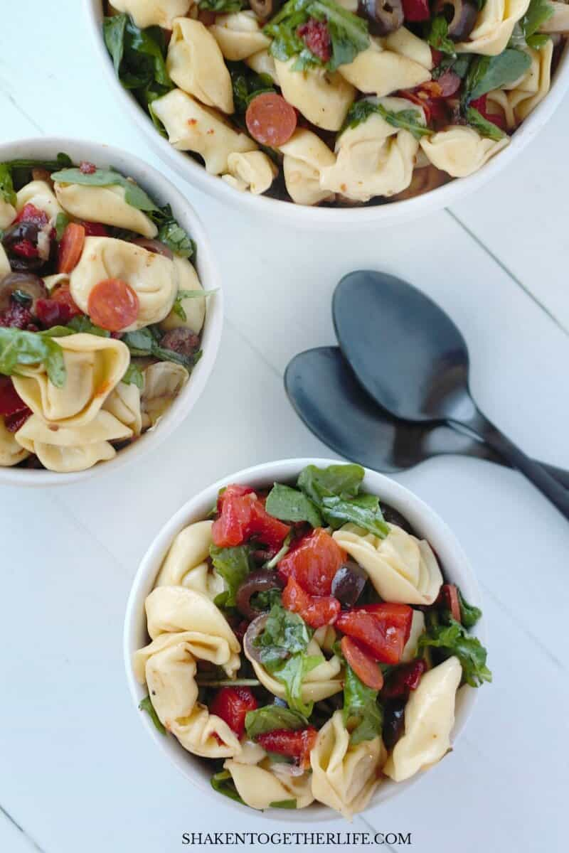Our Tuscan Pasta Salad is a flavorful, no-mayo Summer side dish that is perfect for picnics, pot lucks and cook outs!