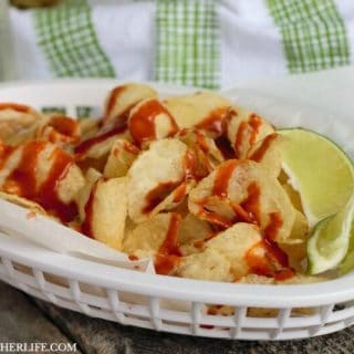 Mexican Street Chips with Hot Sauce & Lime