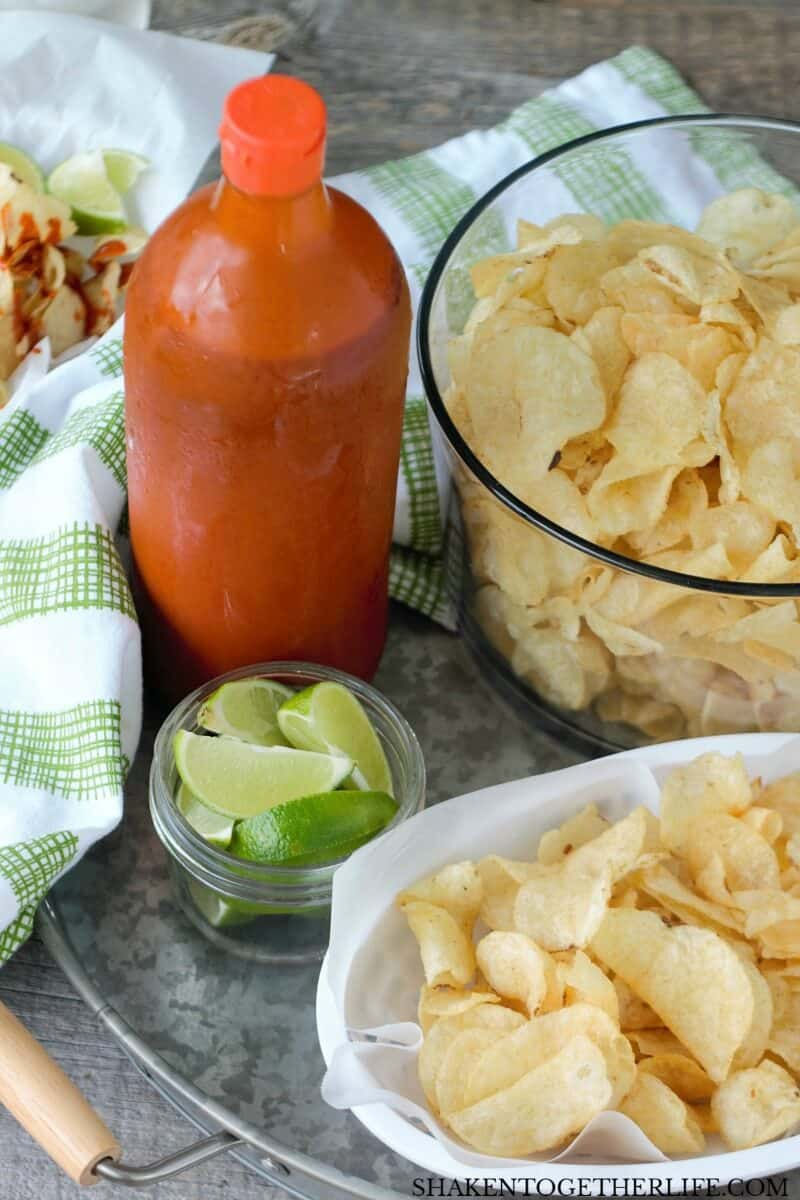 Mexican Street Chips with Hot Sauce & Lime - these are a super flavorful, easy snack or appetizer!