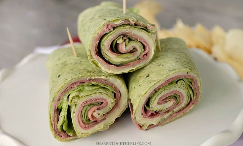 Spicy Roast Beef Wraps are perfect for picnics, potlucks and pool parties! The spicy cream cheese spread is the secret to this flavorful wrap!