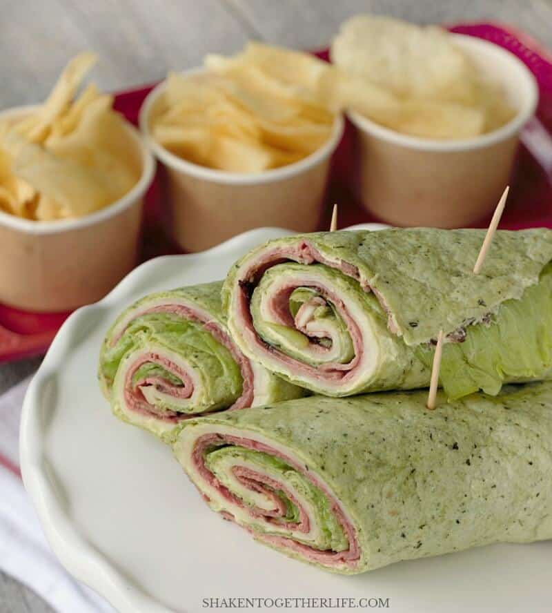 Spicy Roast Beef Wraps combine a spicy cream cheese spread with classic roast beef and provolone for a flavorful alternative to a sandwich! Serve as a meal or slice them for an easy appetizer!