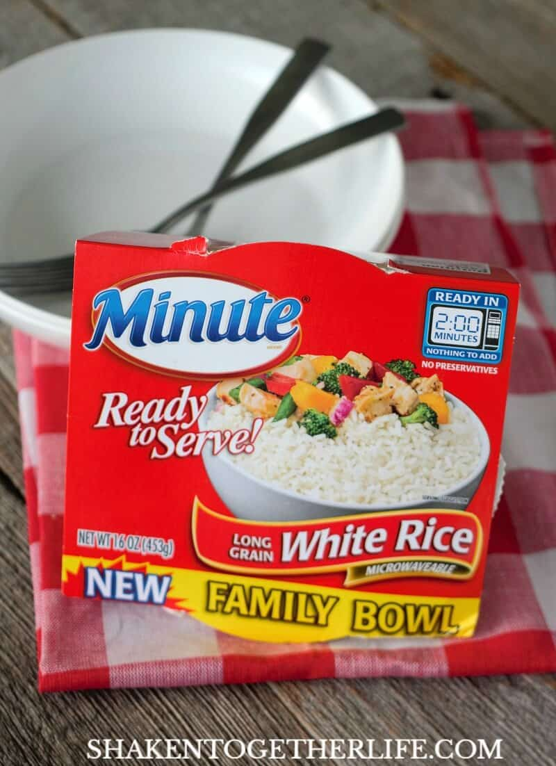 Easy Greek Chicken Rice Bowls start with Minute® Ready to Serve Family Bowls