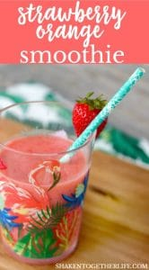 Fruity and refreshing, 2 ingredient Strawberry Orange Smoothies are a delicious snack to sip!