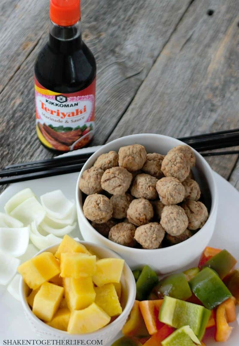 With just 5 ingredients, these Grilled Teriyaki Meatball Skewers are as easy as they are delicious!