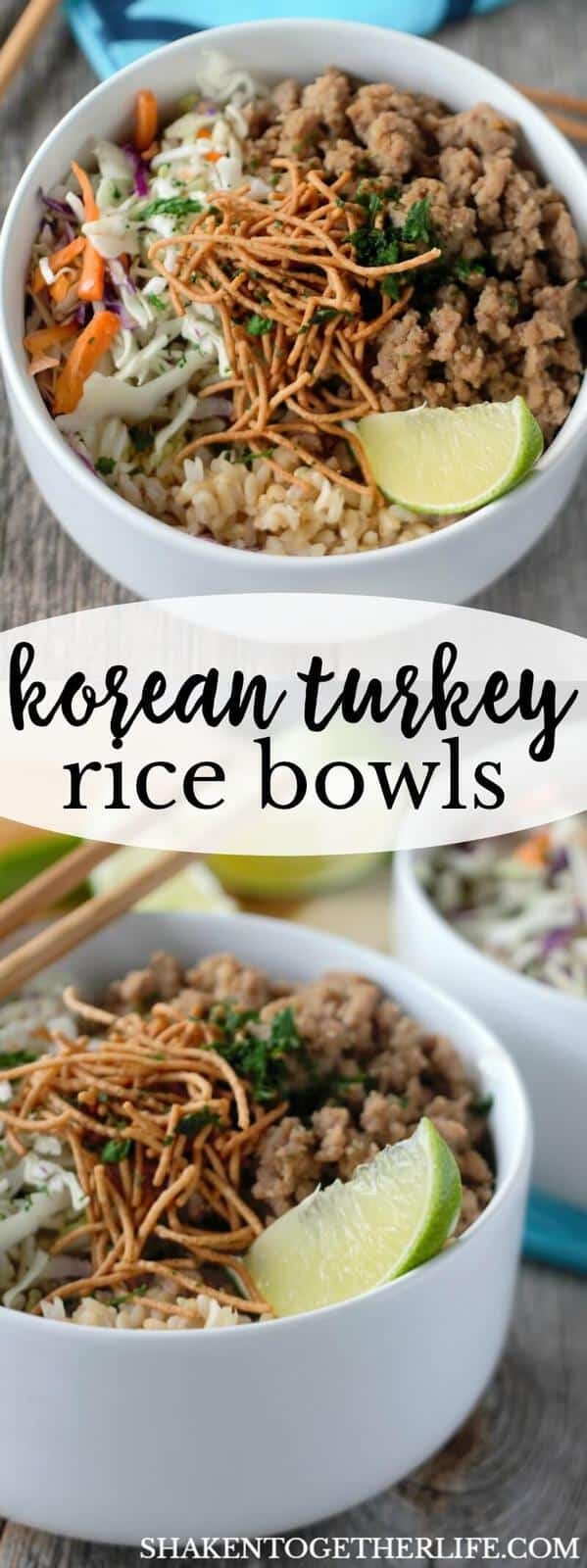 My family can't get enough of these Korean Turkey Rice Bowls! This is a quick and flavorful 30 minute meal!