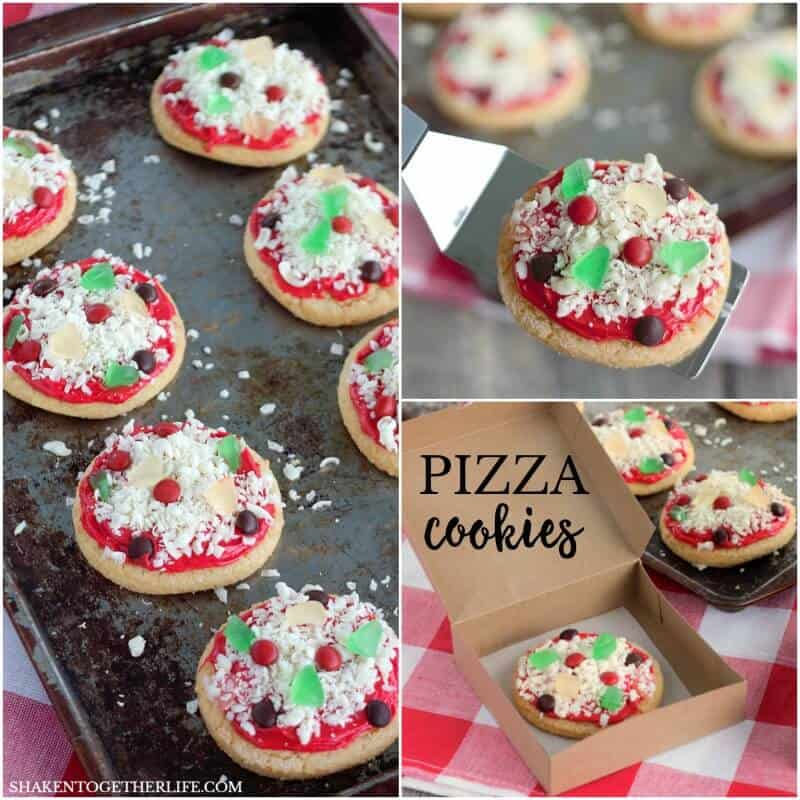 No Bake Sugar Cookie Pizza Cookies - these are the cutest cookies! Love all the sweet toppings loaded on a sugar cookie crust!