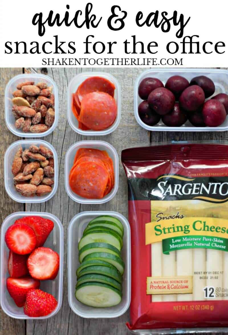 Quick & Easy Snacks for the Office - perfect to prep and pack for working parents, work from home folks or anyone who needs snack ideas for adults!
