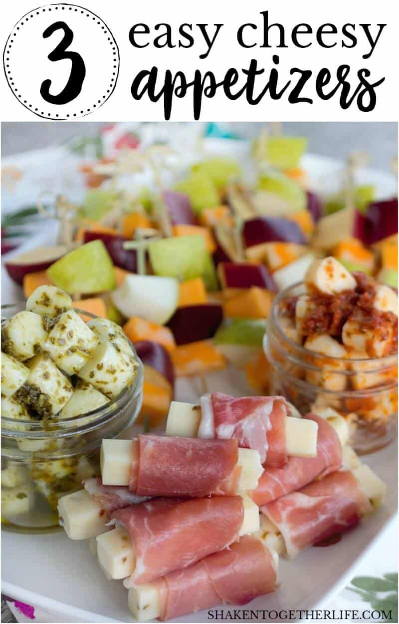 Easy, elegant and SO simple, these 3 Easy Cheese Appetizers are so delicious no one will believe that they started out with cheese sticks!!
