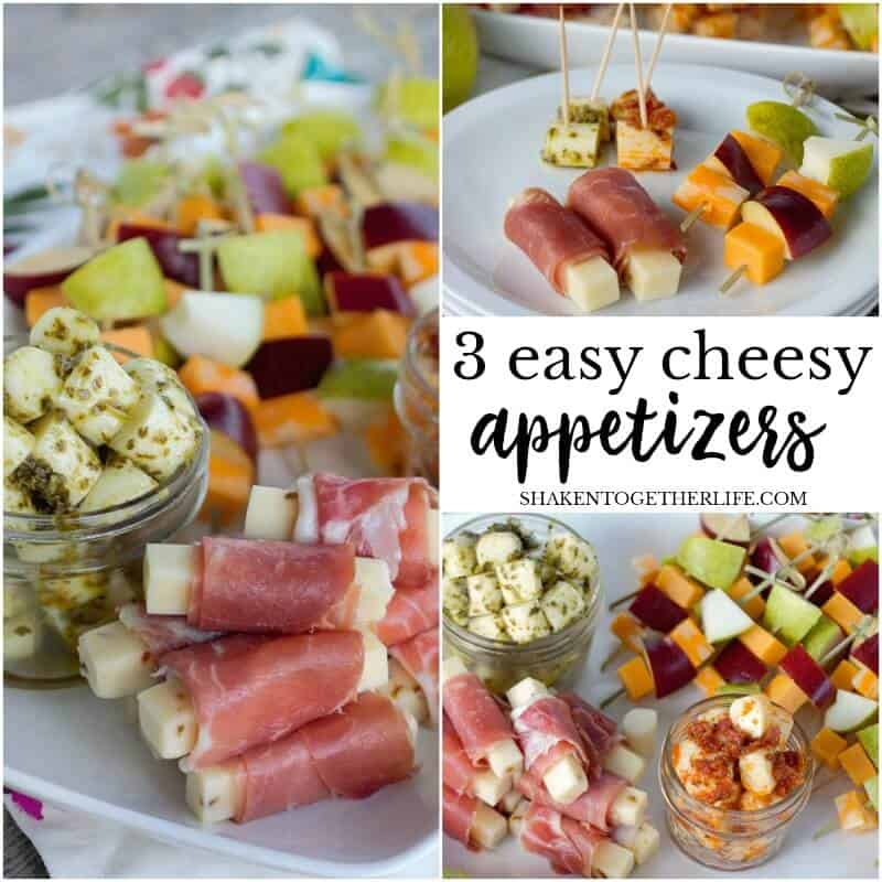 3 Easy Cheesy Appetizers - these cheese appetizer ideas start with cheese sticks and provide a quick & elegant way to entertain. They are the perfect delicious Fall appetizers!