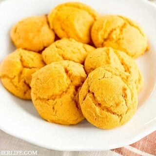 Mom's Pumpkin Cookies are supremely soft, subtly pumpkin and the perfect not too sweet Fall treat!