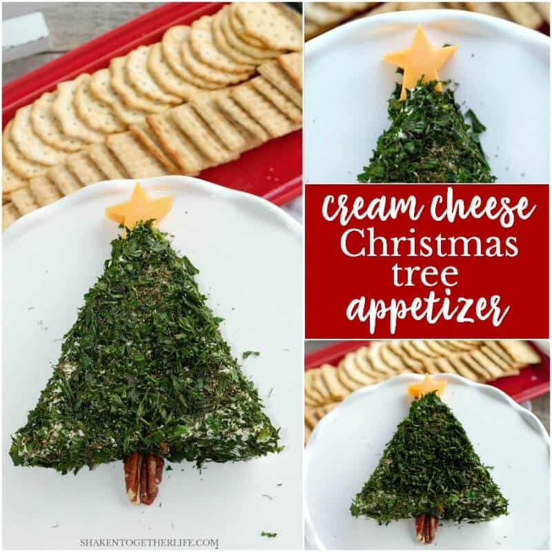 With just 2 ingredients and 2 simple garnishes, this Cream Cheese Christmas Tree Appetizer is an easy way to add some festive holiday cheer to any party or get together!