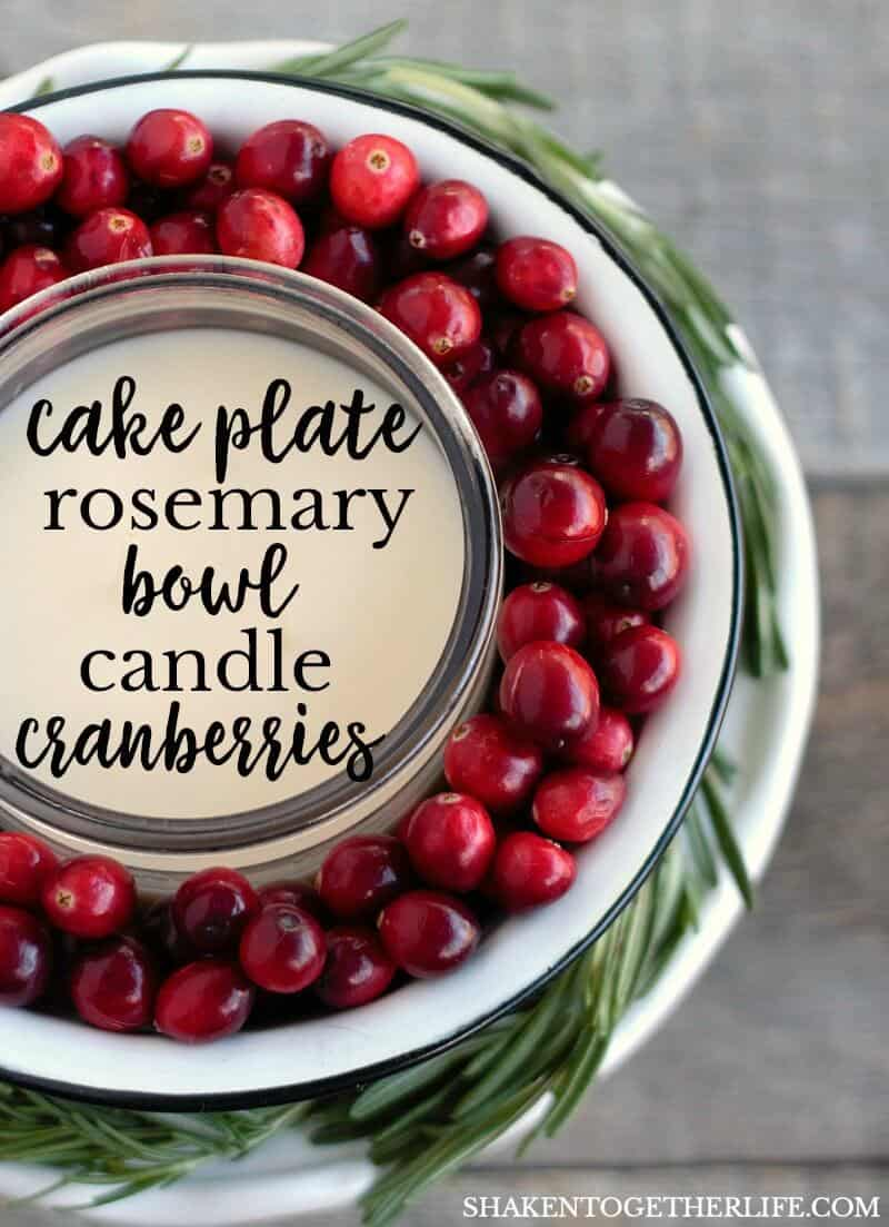While Mini Cranberry Cornbread Loaves are baking, whip up this easy Cranberry Candy Centerpiece! It is a pretty way to use fresh cranberries for holiday decorating!