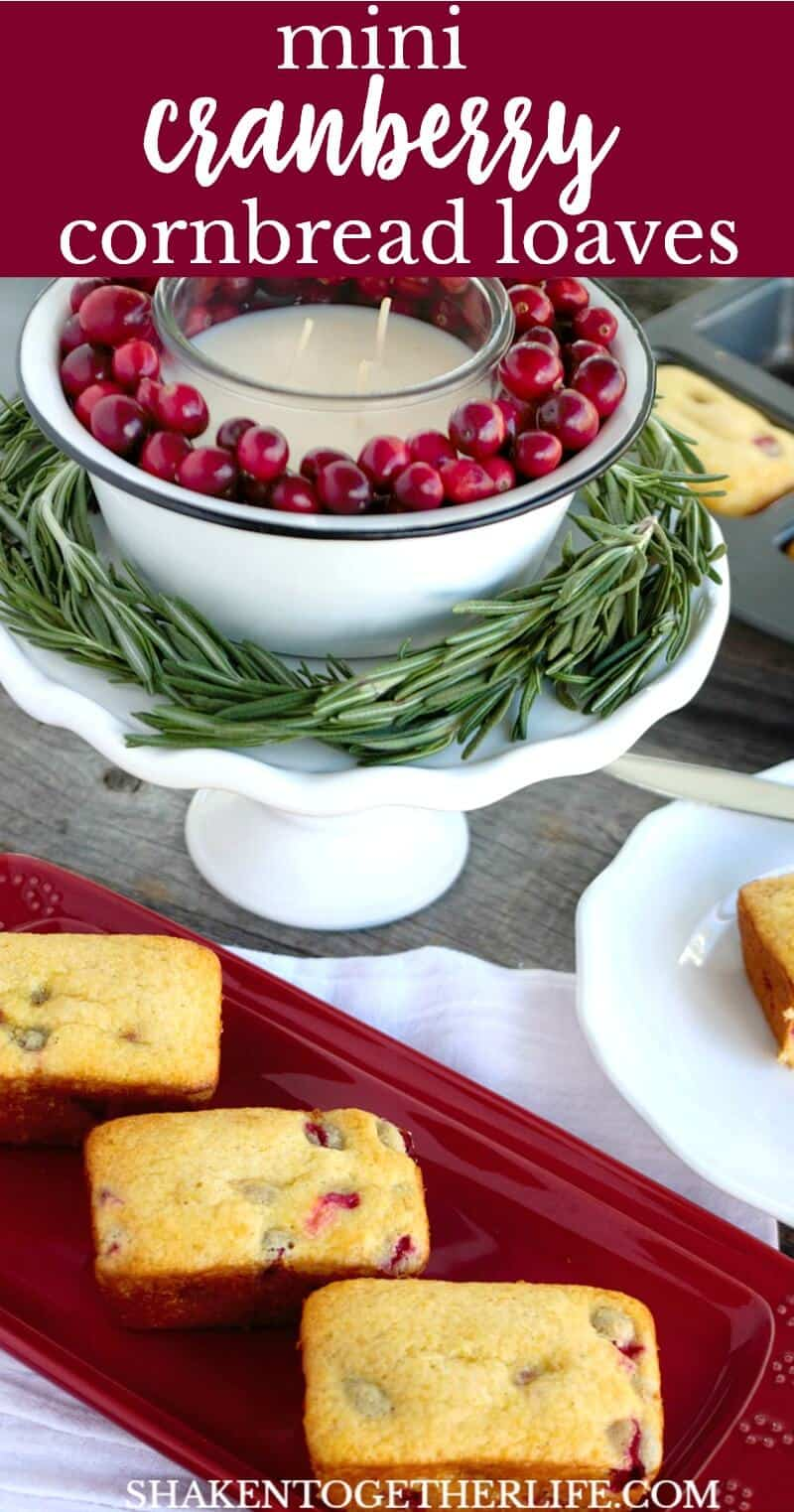 No holiday meal is complete without these sweet and slightly tart Mini Cranberry Cornbread Loaves!