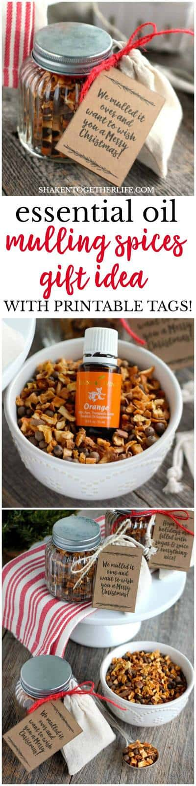 essential oils mulling spices gift printable tags