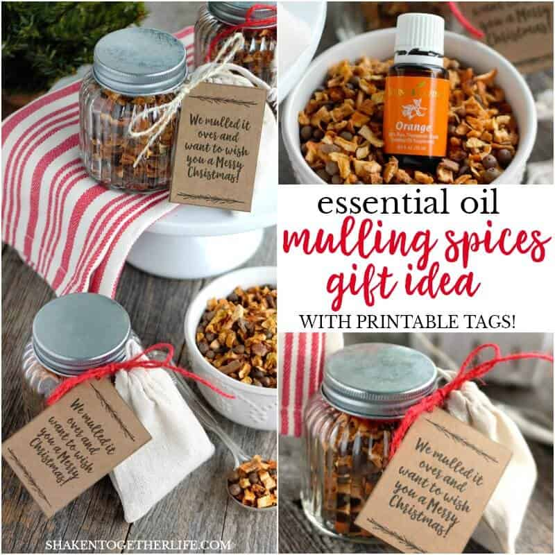 Handmade holiday gifts are thoughtful and unique- like an Essential Oils Mulling Spices Gift! Complete with a reusable tea bag and a bottle of orange essential oil, these handmade holiday gifts are easy and affordable!