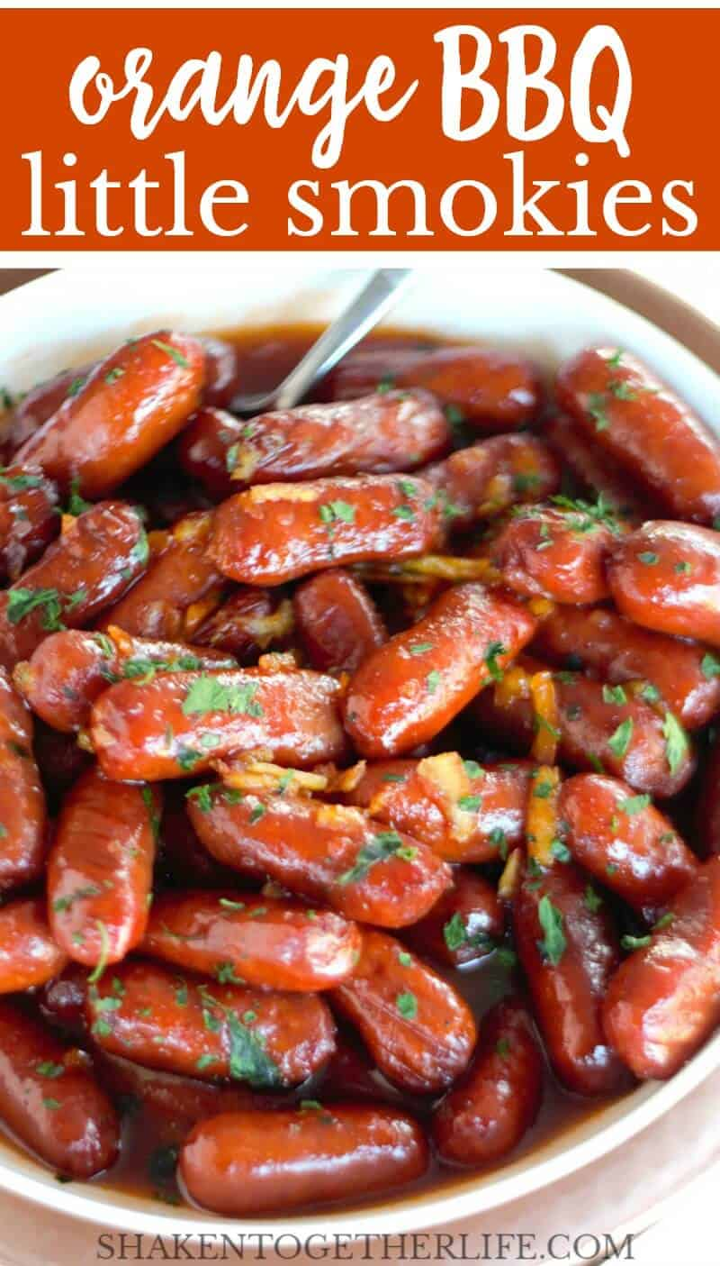 Orange BBQ Little Smokies are a sweet and tangy, 3 ingredient appetizer that will disappear at any party!
