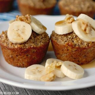 Banana Bread Baked Oatmeal Cups