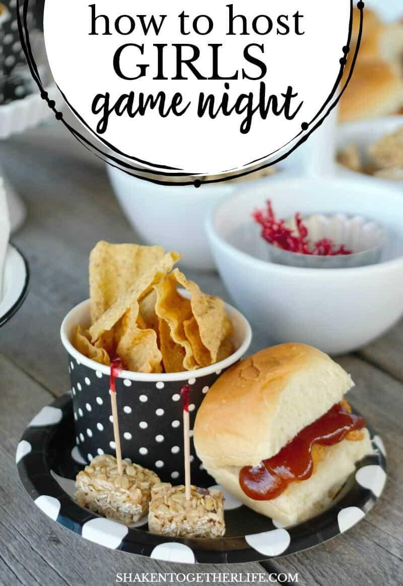 how to host girls game night in 4 easy steps - shaken together