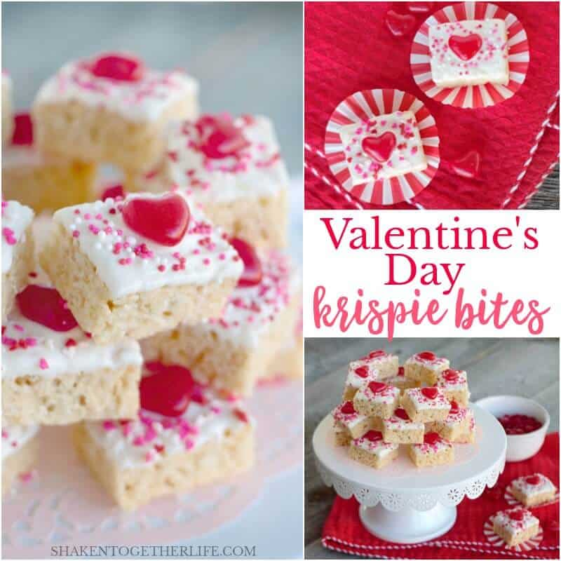 Valentine's Day Krispie Bites are sweet, simple and a delicious no-bake Valentine's Day dessert!