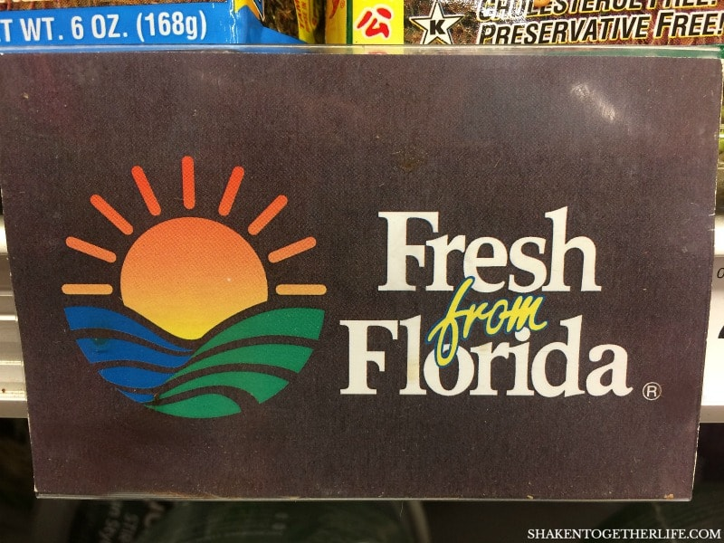 Look for Fresh from Florida signs indicating that you are buying Fresh from Florida produce for all of your favorite recipes!