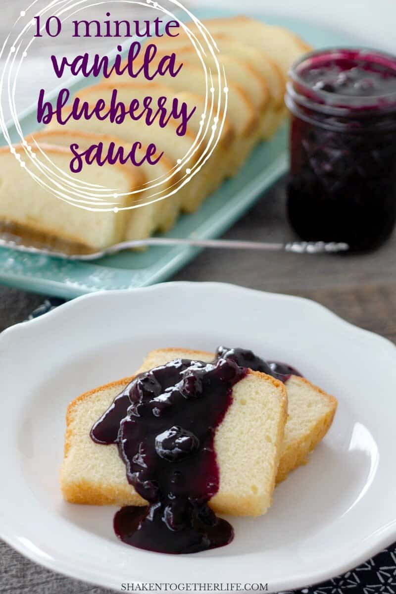 Bursting with fresh blueberries and a hint of warm vanilla flavor, this 10 Minute Vanilla Blueberry Sauce is quick and easy to make. Who knew homemade blueberry sauce could be so easy?