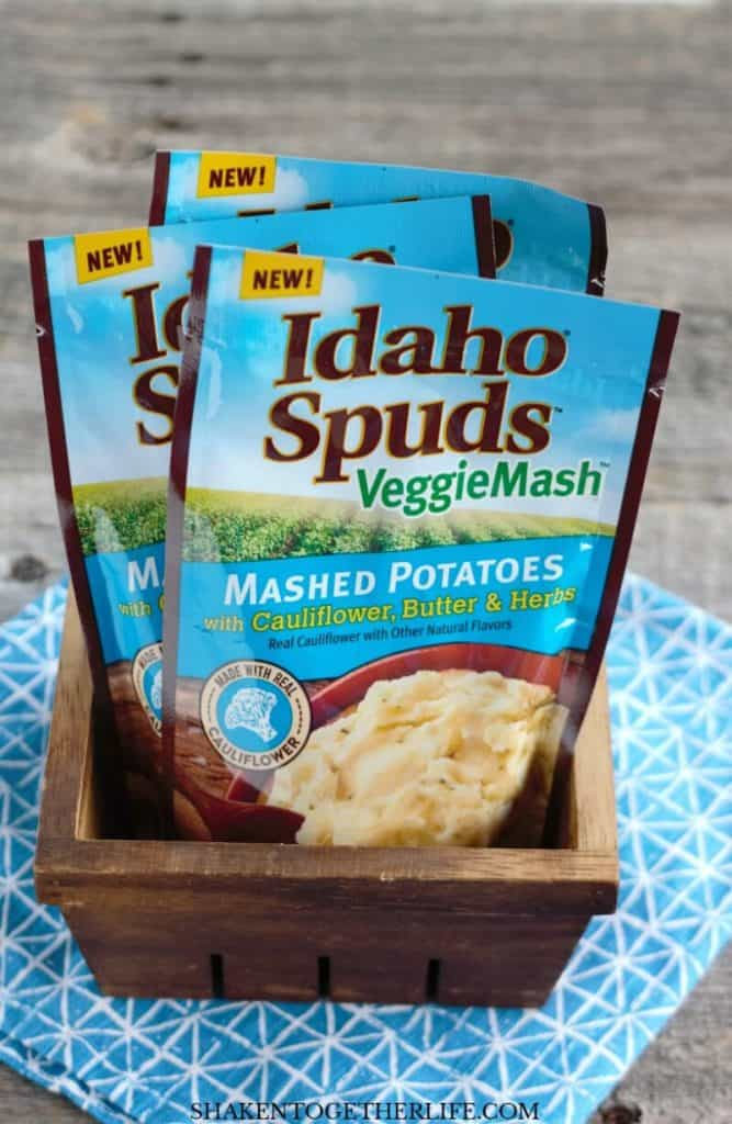 Idaho Spuds Veggie Mash are the stars of our Hidden Veggie Crispy Chicken Bowls!