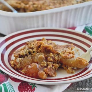 Packed with tender apples and apple pie spice, then sprinkled with a rich buttery cake mix topping, this really is the Easiest Apple Pie Dump Cake! You probably already have the ingredients in your pantry and fridge!
