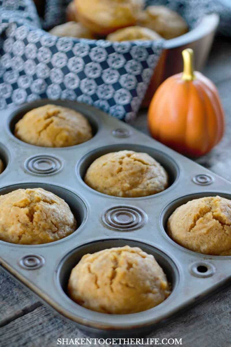 Say hello to you new favorite pumpkin muffin recipe: One Bowl Sugar Sprinkled Pumpkin Spice Muffins! The batter has the perfect amount of vanilla, pumpkin and pumpkin pie spice and they bake up sturdy but tender!