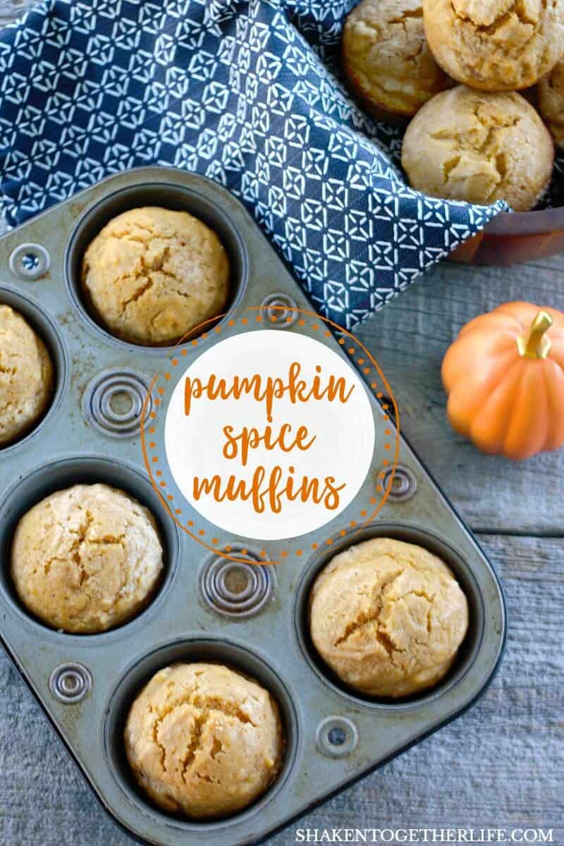 Say hello to your new favorite pumpkin muffin recipe: One Bowl Sugar Sprinkled Pumpkin Spice Muffins! The batter has the perfect amount of vanilla, pumpkin and pumpkin pie spice and they bake up sturdy but tender!
