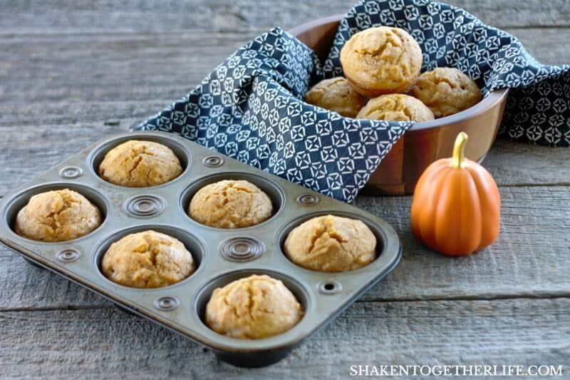 Simple and sturdy, these easy One Bowl Sugar Sprinkled Pumpkin Spice Muffins will be a fast Fall family favorite!