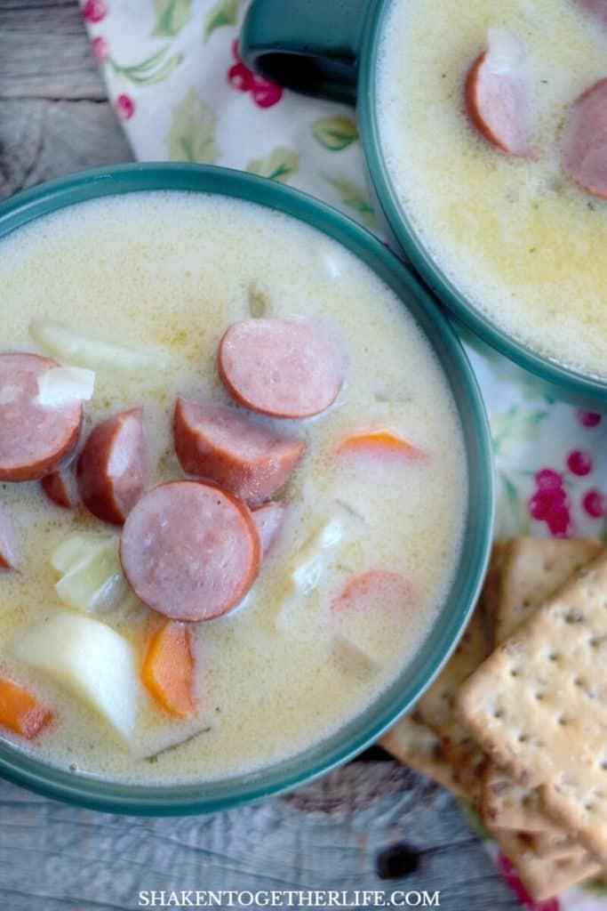 Grandma's Creamy Sausage & Potato Soup is a simple one pot recipe for classic, cozy comfort food!