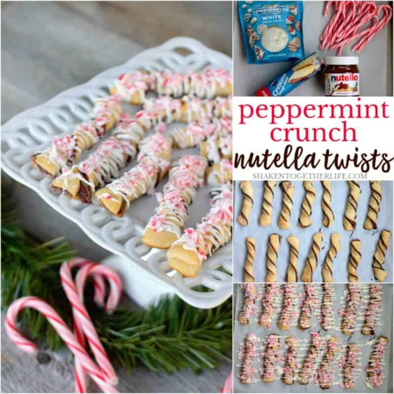 These super easy 4 ingredient Peppermint Crunch Nutella Twists will land you right on Santa's nice list!