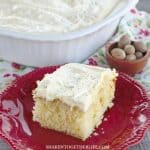 Unapologetically eggnog, this easy Eggnog Cake with Fluffy Eggnog Frosting has eggnog in the batter and frosting along with fresh grated nutmeg!