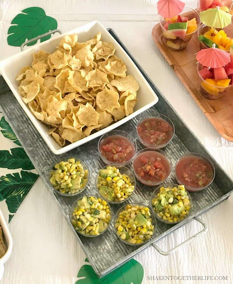 A Tropical Summer Craft Party is the perfect occasion to highlight all of of the in season Fresh From Florida produce like corn, watermelon, tomatoes, blueberries and bell peppers!
