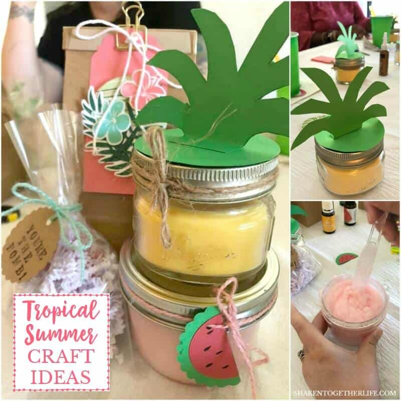 Tropical Summer Craft Party - lots of ideas for tropical themed food, Summer decor and fun tropical craft ideas!