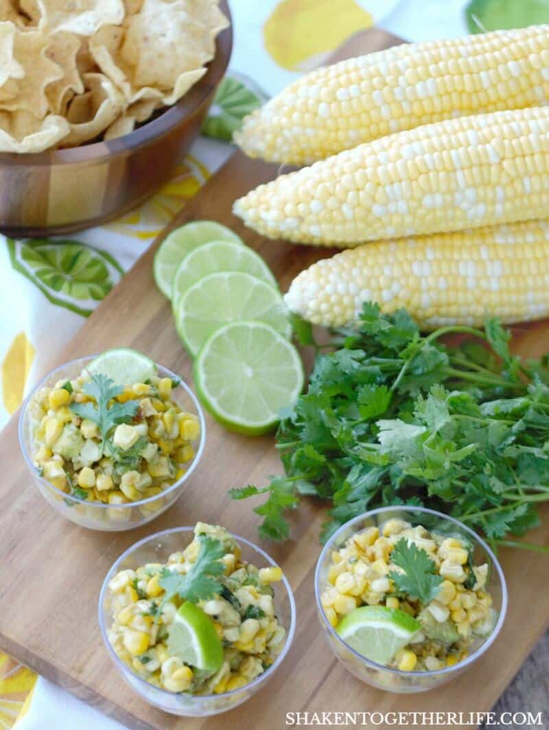 Corn & Avocado Salsa is a bright, fresh Summer side dish or snack! Serve this veggie forward salsa on tacos or with chips!