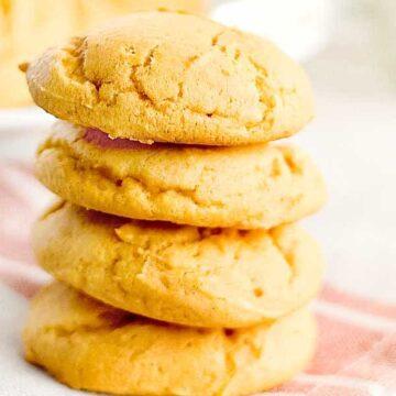 stack of soft pumpkin cookies