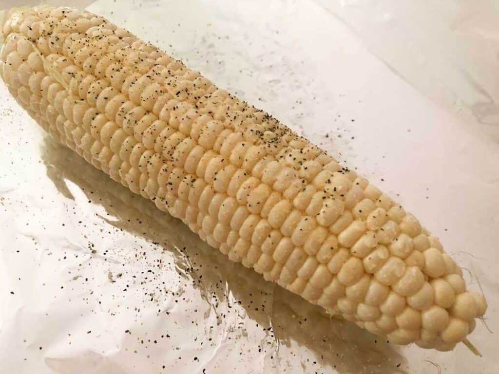 seasoned corn on the cob before grilling