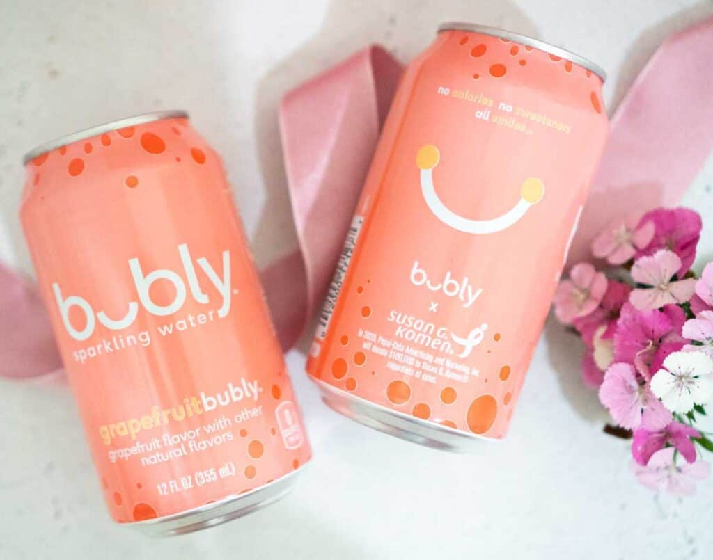 two cans of grapefruit bubly