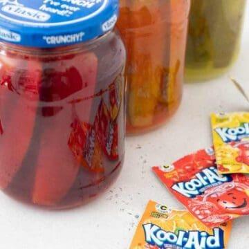jars of kool aid pickles